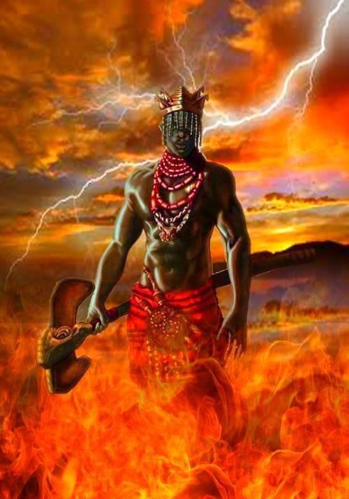 Chango thunder god Orisha santeria